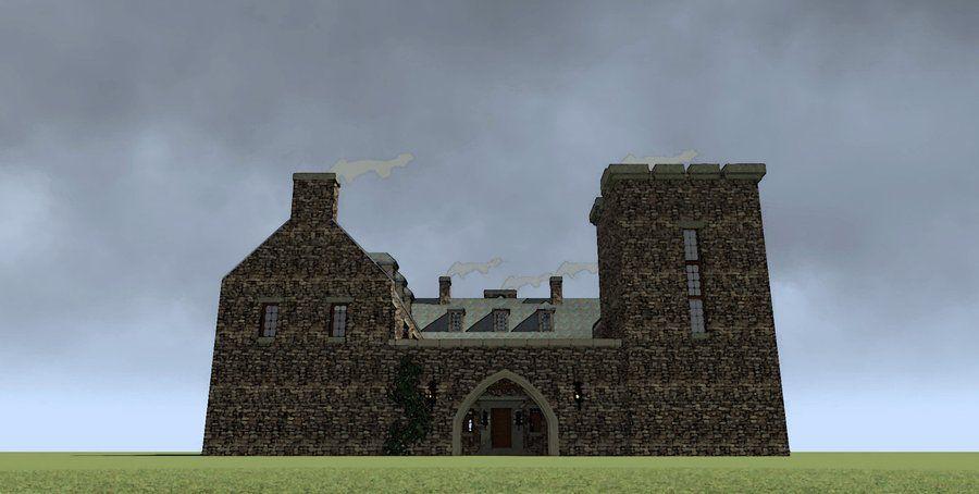 Darien ii castle house plan omg we could have for Scottish castle house plans