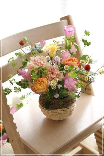 【母の日】ナチュラルがいっぱい♪(その4) Flower note の 花日記 (横浜・上大岡 アレンジメント教室)