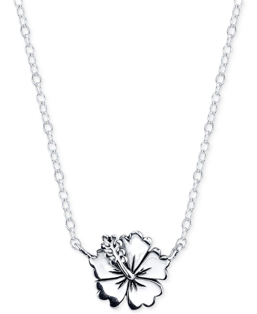 Lilo & Stitch Flower Necklace in Sterling Silver. I LOVE
