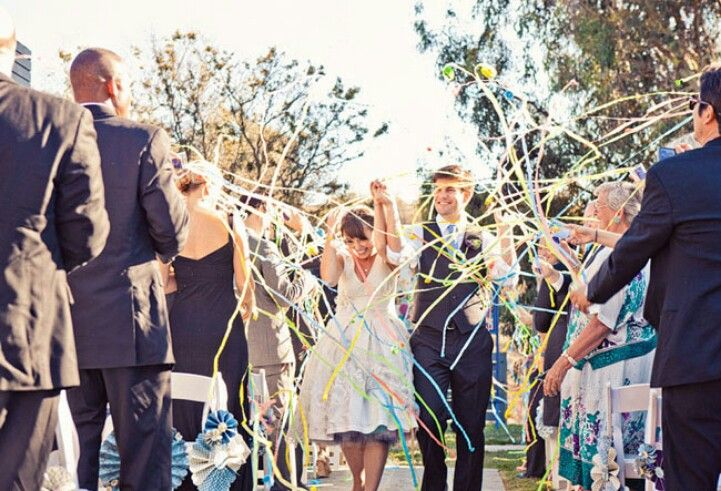 Ribbons and streamers for a fun exit! | Sara\'s Wedding | Pinterest ...