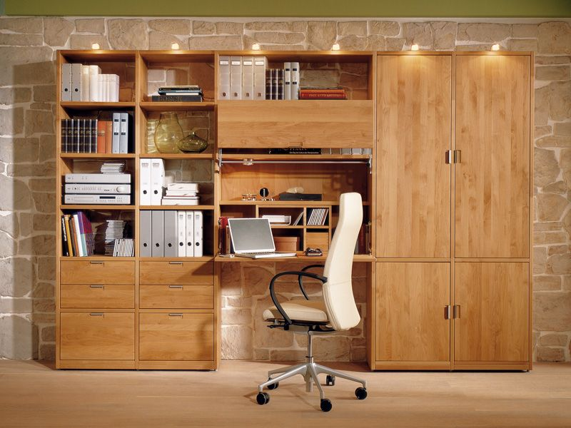 Wood Bookcase with Integrated Folding Desk for Kids Study Room by Huelsta |  DigsDigs
