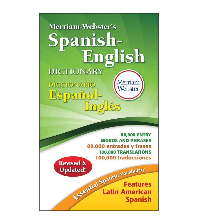 Merriam Webster Merriam Webster S Spanish English