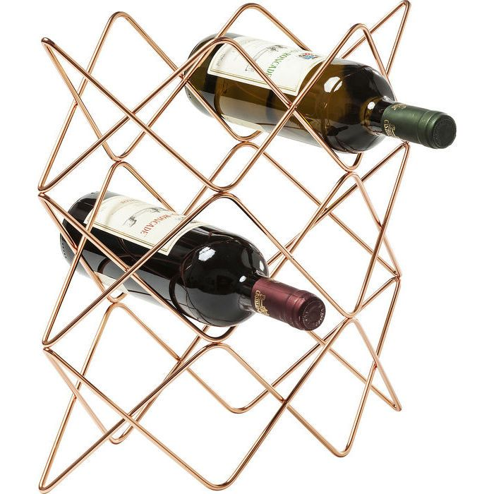 Wine Rack Wire Zick Zack Copper Kare Design Winerack Rack