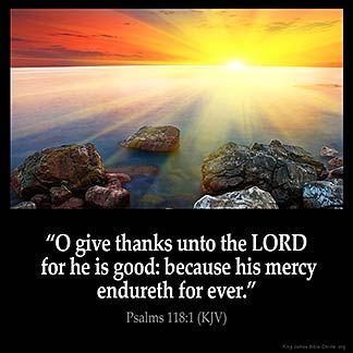 Imagem inspirada para Salmos 118: 1