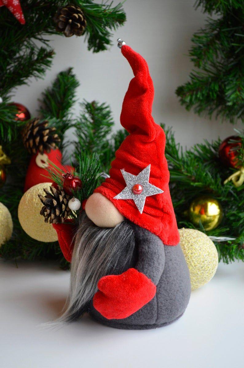 Christmas Gnome Christmas Gifts Scandinavian Gnome Red Gnome Etsy Christmas Decor Diy Diy Christmas Gifts Christmas Diy