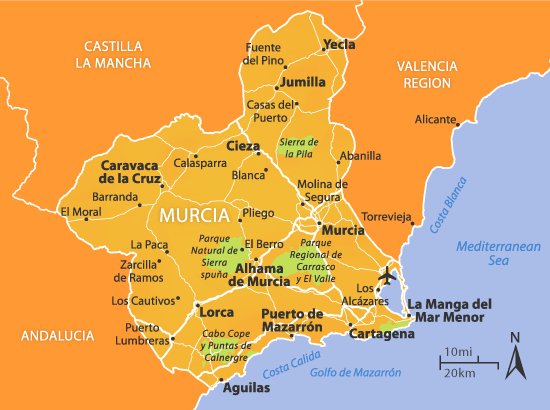 Map Of Spain Murcia.Pin By Go Murcia Spain On Murcia Region Murcia Murcia