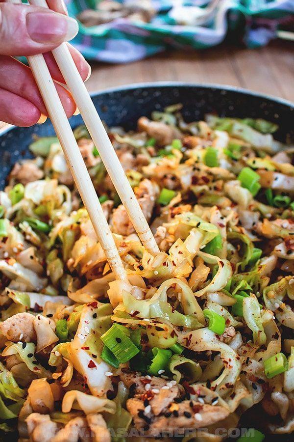 Quick Chicken Cabbage Stir Fry Recipe - Geschmackvolles asiatisches chinesisches... - Kalorienarme - #Asiatisches #Cabbage #Chicken #Chinesisches #fry #Geschmackvolles #Kalorienarme #quick #recipe #stir #cabbagestirfry