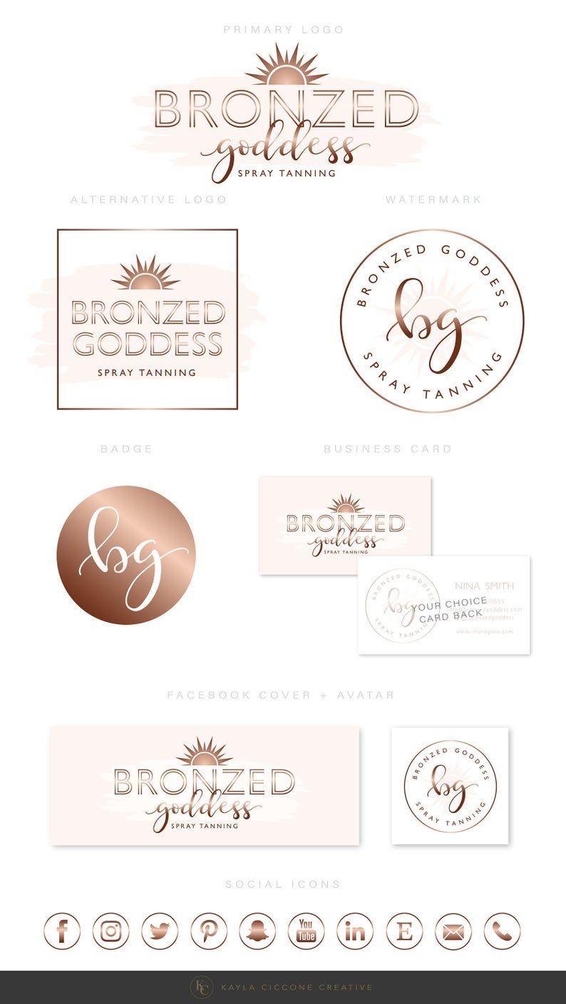 Spray Tan Logo, Mobile Spray Tanning Logo, Sun Logo