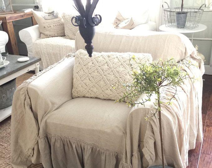 Slipcover Ruffled Slipcover Sofa Cover Sofa Scarf Slip Cover
