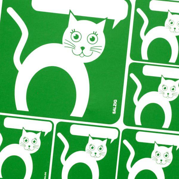 Cat - Sticker with speech bubble from SALZIGkids auf DaWanda.com #sticker #cat #kids