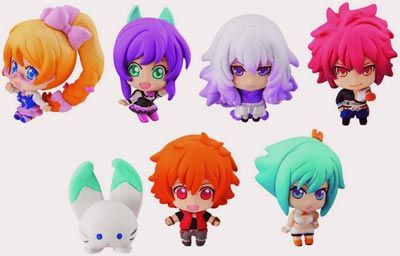 The characters of the Aquarion Evol anime are now yours to collect with the Aquarion Evol Chara Fortune Mini-Figures, which recreate the series' characters ...