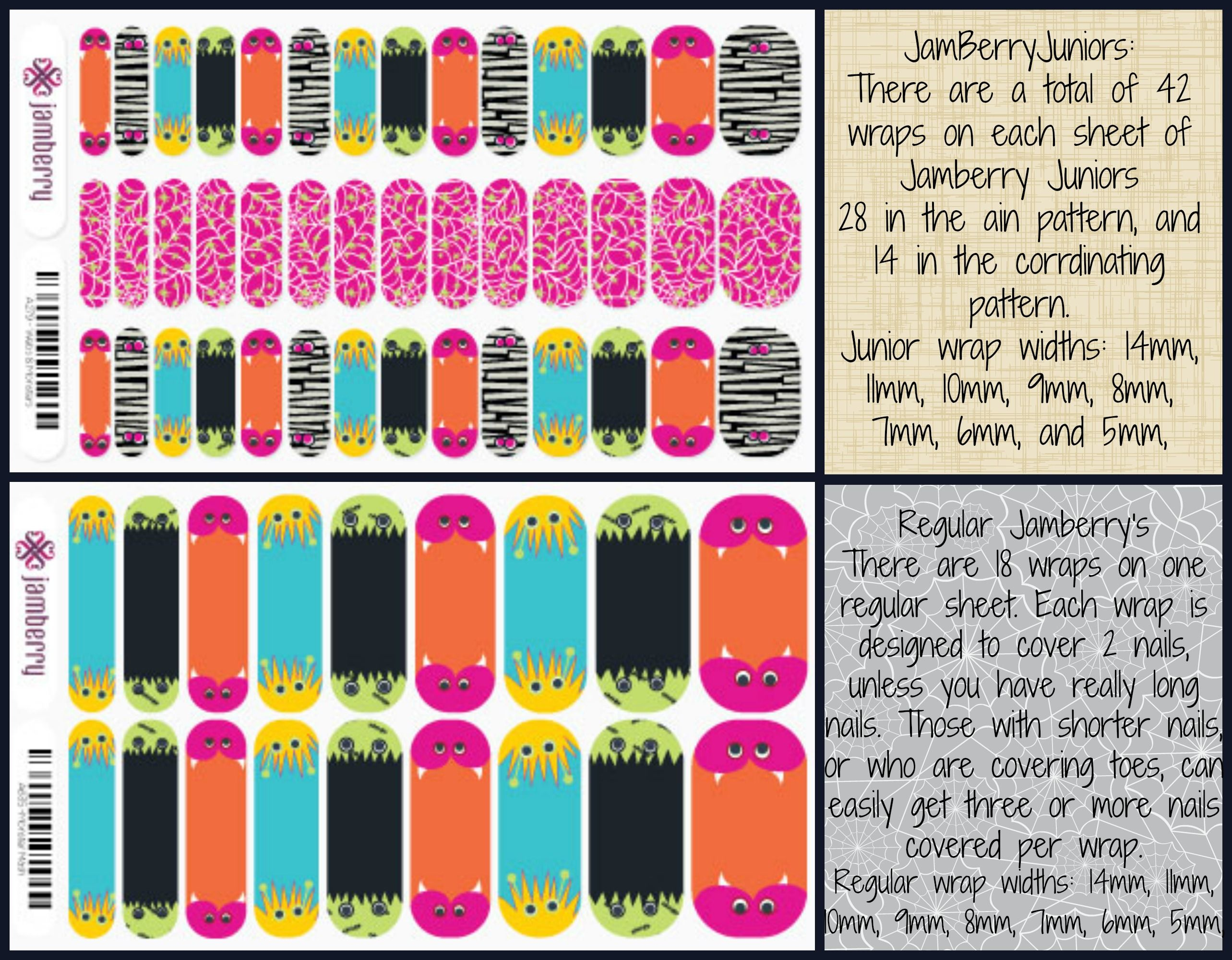 So whats the difference?! Check out these awesomly cute wraps for both you and that sweet little girl in your life!  Shop at eringeneva.jamberrynails.net/