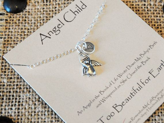 Sterling Silver Angel Child Memorial Necklace. Too Beautiful for ...