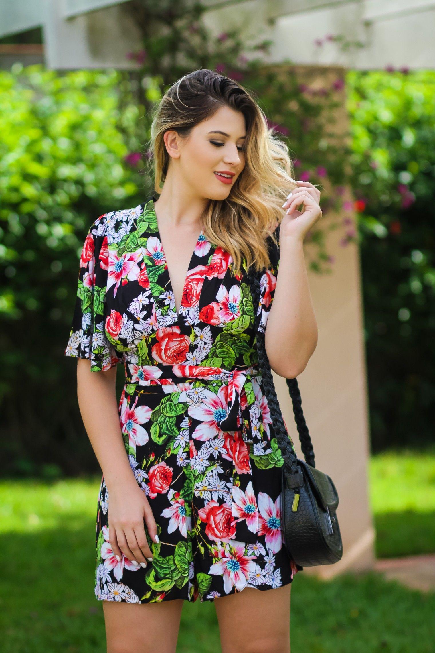 a57e82b60 Look do dia: macaquinho florido | Women Dress | Dresses, Fashion e ...