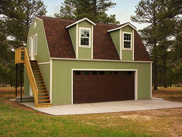 Garage W Living Qtrs Upstrs Home Tuff Shed Shed