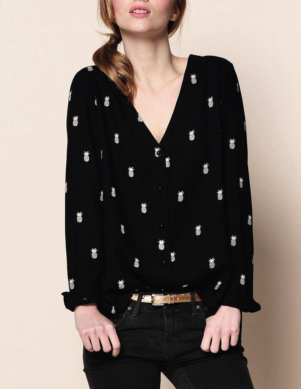 Des petits hauts genial blouse pineapple couture pinterest