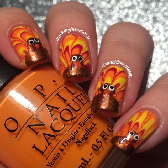 27 Awesome Nail Art Ideas for Thanksgiving | Thanksgiving nails ...