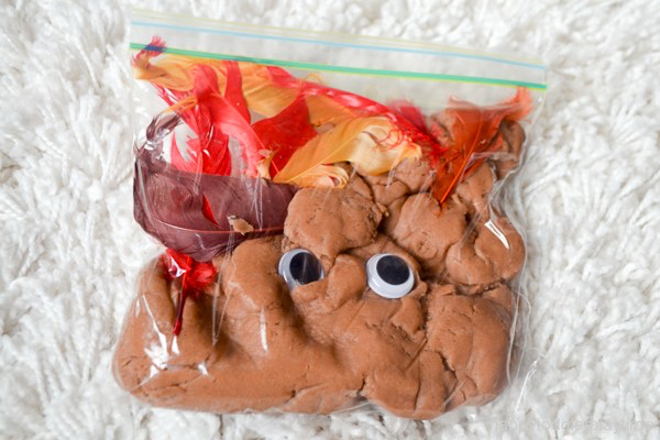 turkey sensory bag with images  baby sensory play
