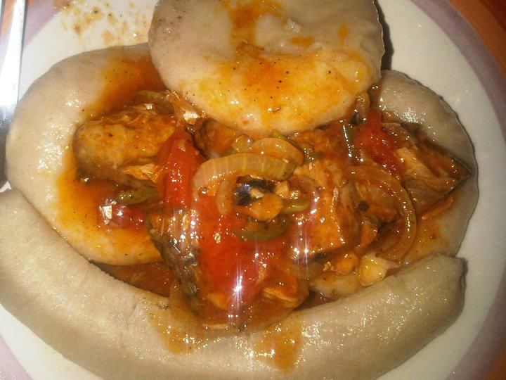 Tin Mackerel W Baked Banana Dumplin Yummy Jamaican Recipes Jamaica Food Jamaican Cuisine
