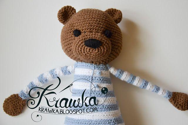 Krawka: Marrón patrón clásico ganchillo del oso de peluche por ...