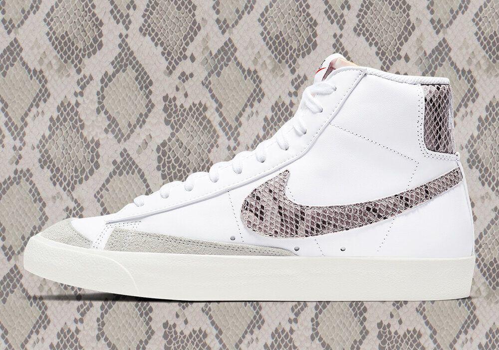 Now Available Nike Blazer Mid 77 Reptile White Nike Outftis Zapatos