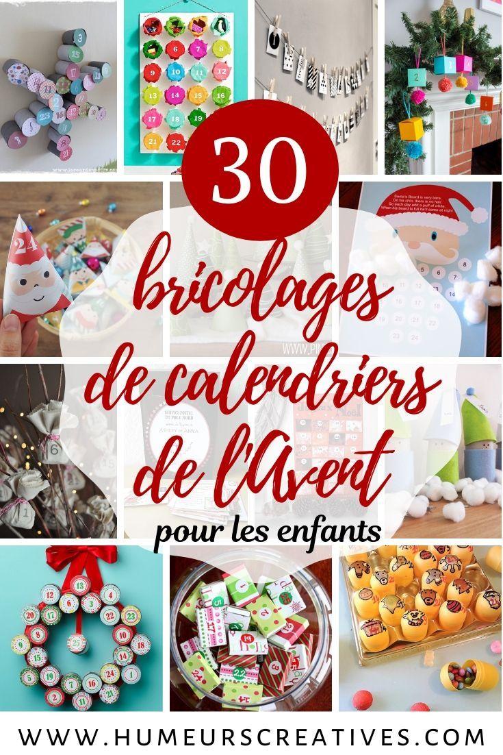 30 bricolages de calendriers de l'Avent à fabriquer avec les enfants - #calendrierdelaventfaitmaisonfacile