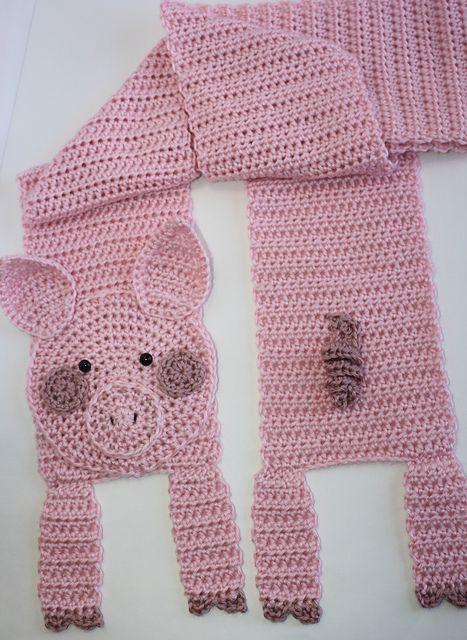 Pig Scarf pattern by Shelley Brown | Tejido, Gorros y Bebé