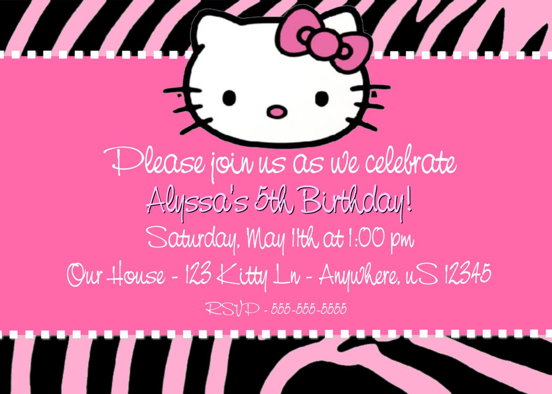 Printable Hello Kitty Birthday Invitations Free