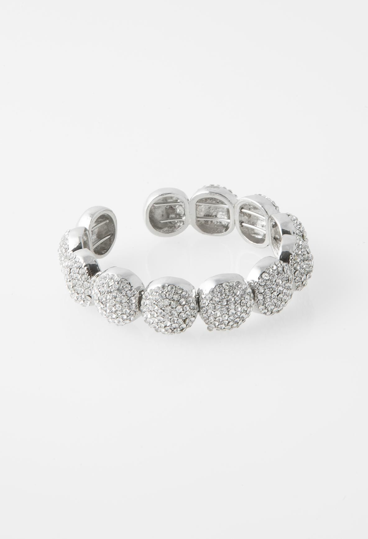 RHINESTONE OPEN END BRACELET #camillelavie #groupusa #jewelry #accessories #bracelet