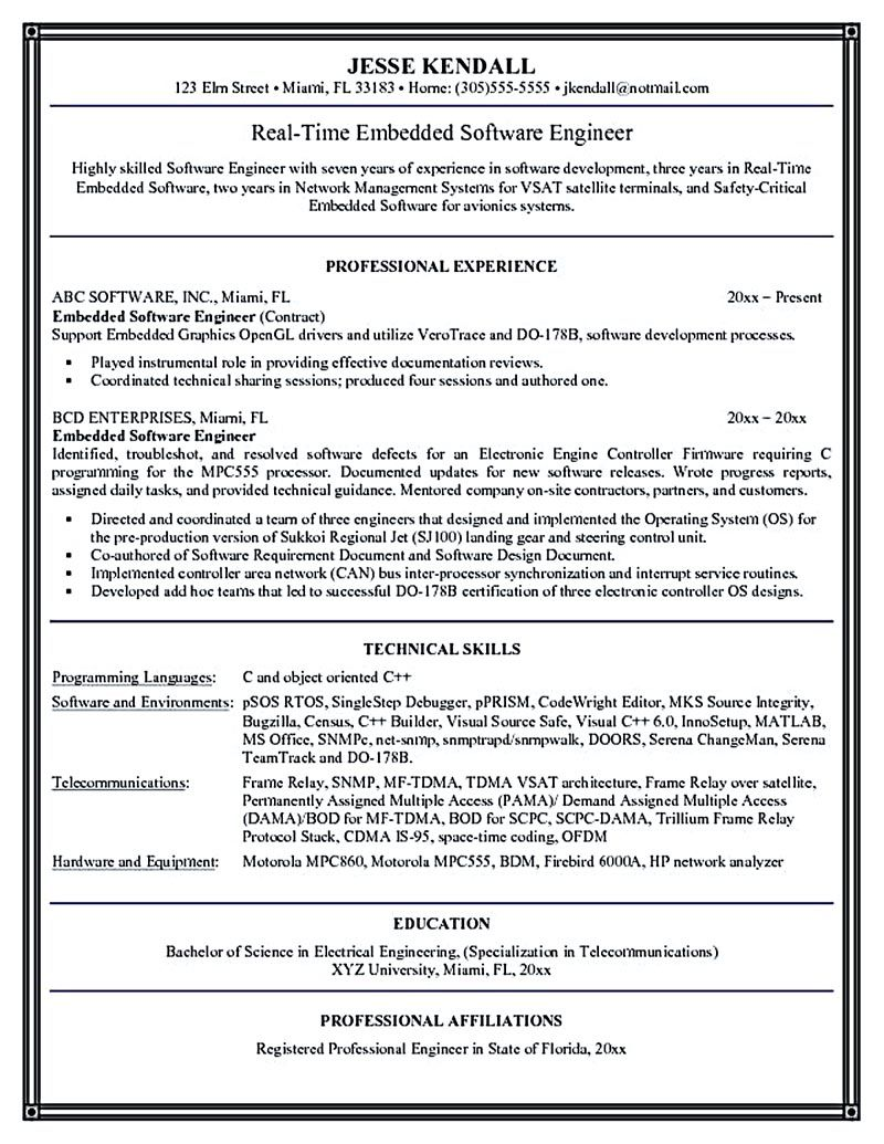 software engineer resume includes many things about your skills  education  awards and also what