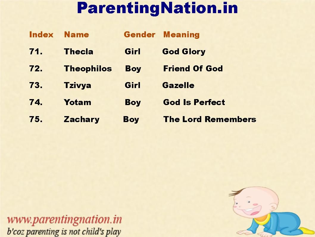 christian baby names with accurate meaning for your cute new born