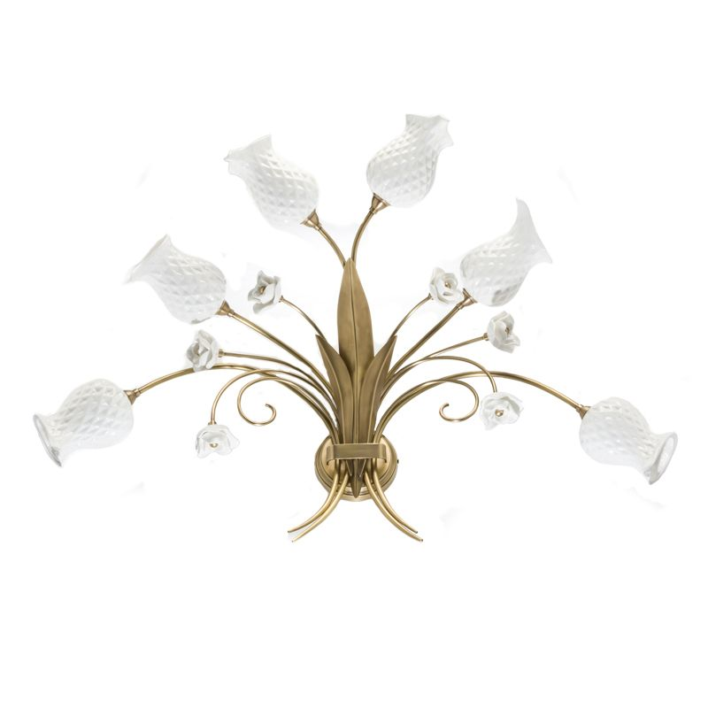 This wall sconce is made by Bone China and pure brass. Bone China is fired at 1260 celsius degree.