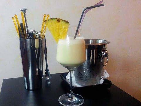 Cocktail Virgin Pina Colada - YouTube