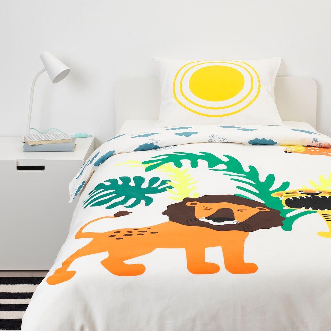 Djungelskog Housse De Couette Et Taie Animal Nuage Ikea Kids Bed Linen Duvet Covers Quilt Cover
