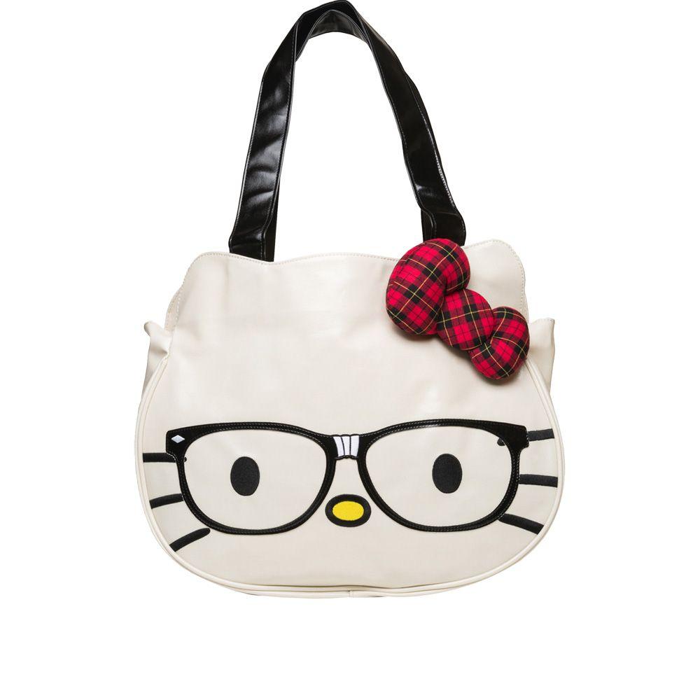 156eaa6e01 Hello Kitty Nerd Face Bag White up to 70% off