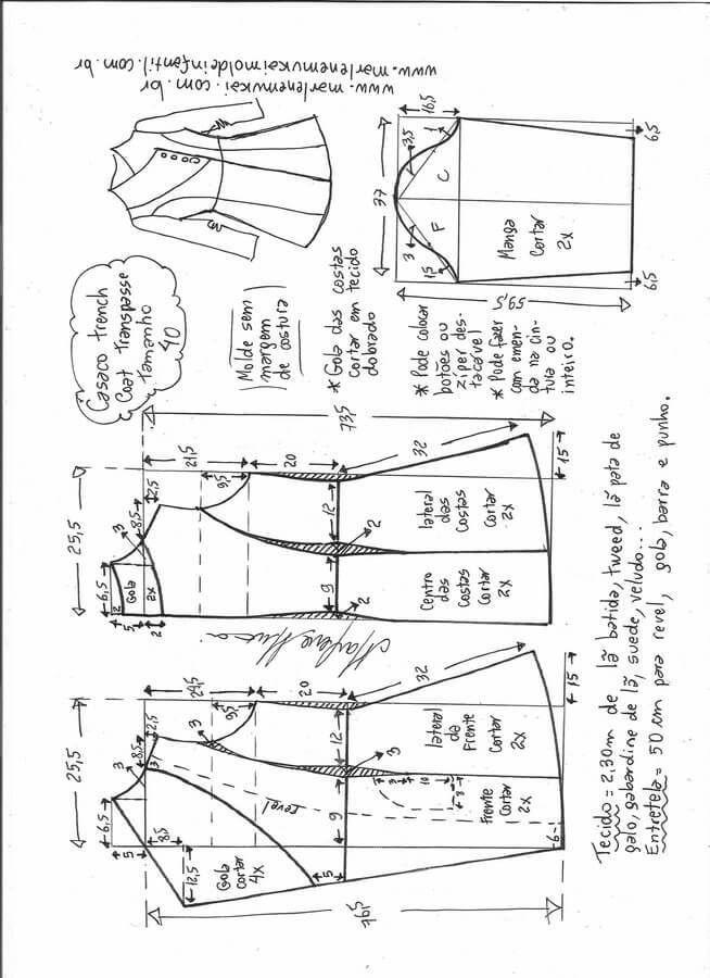 chaqueta-abrigo-elegante-40.jpg (654×900) | Patrones de costura ...