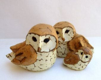 SALE was 350.00 Barn Owls painted rocks by ...