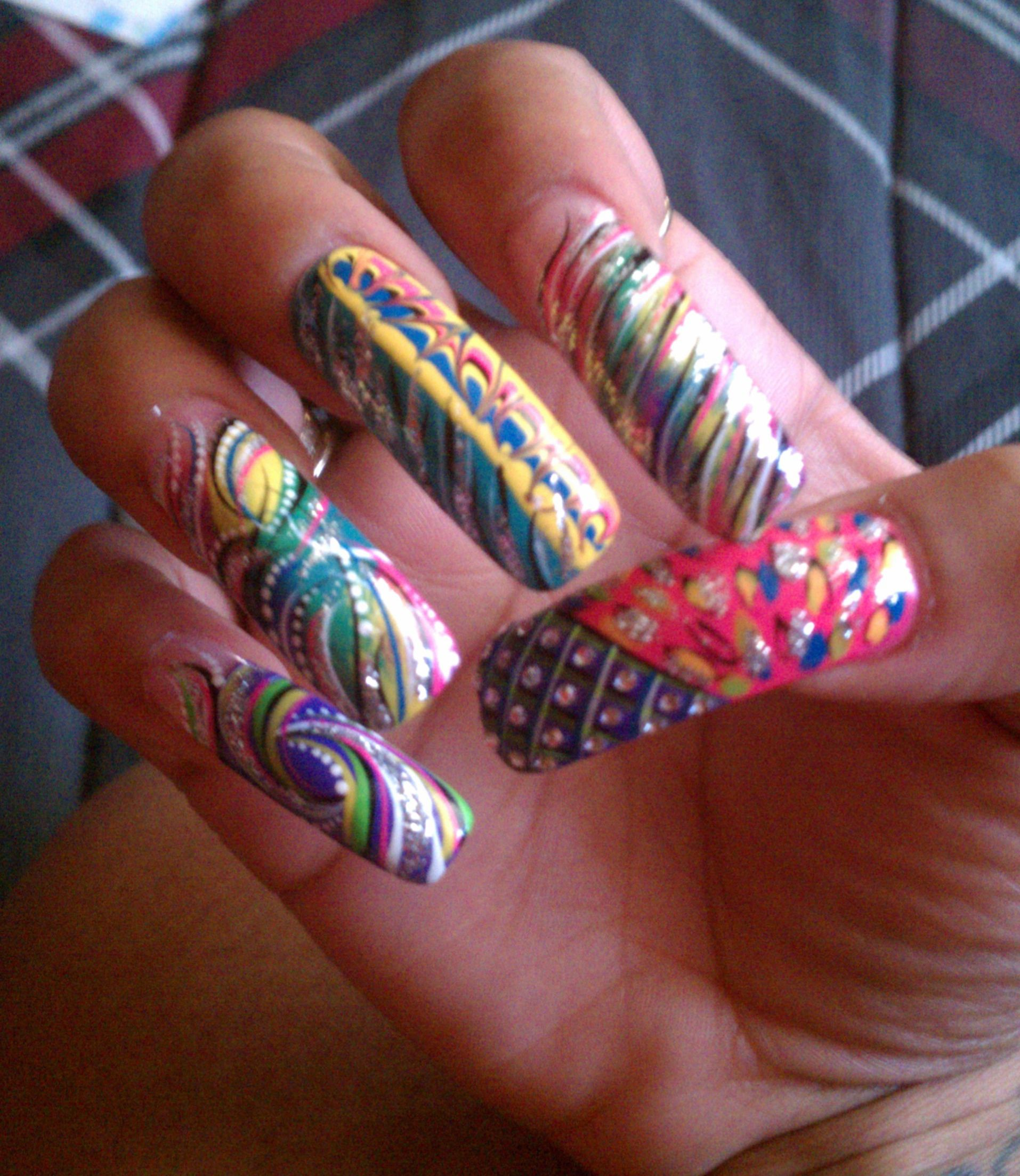 Nails Done, Hair Done, Everything Did! | Nails On Fire | Pinterest ...