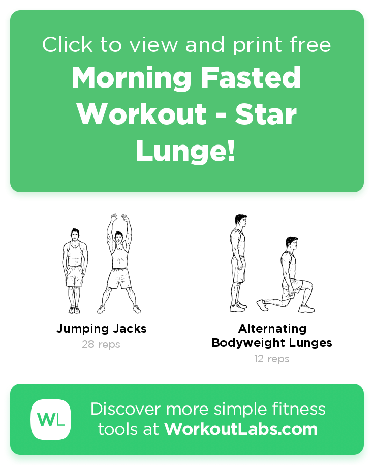 Morning Fasted Workout Star Lunge! click to view and