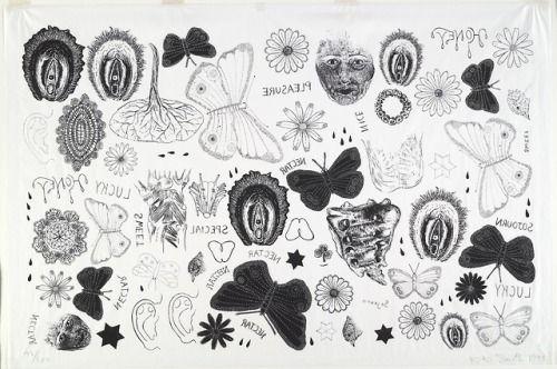 1995 Tattoo Design: Skogsnufa:Kiki Smith, Tattoo Print, 1995