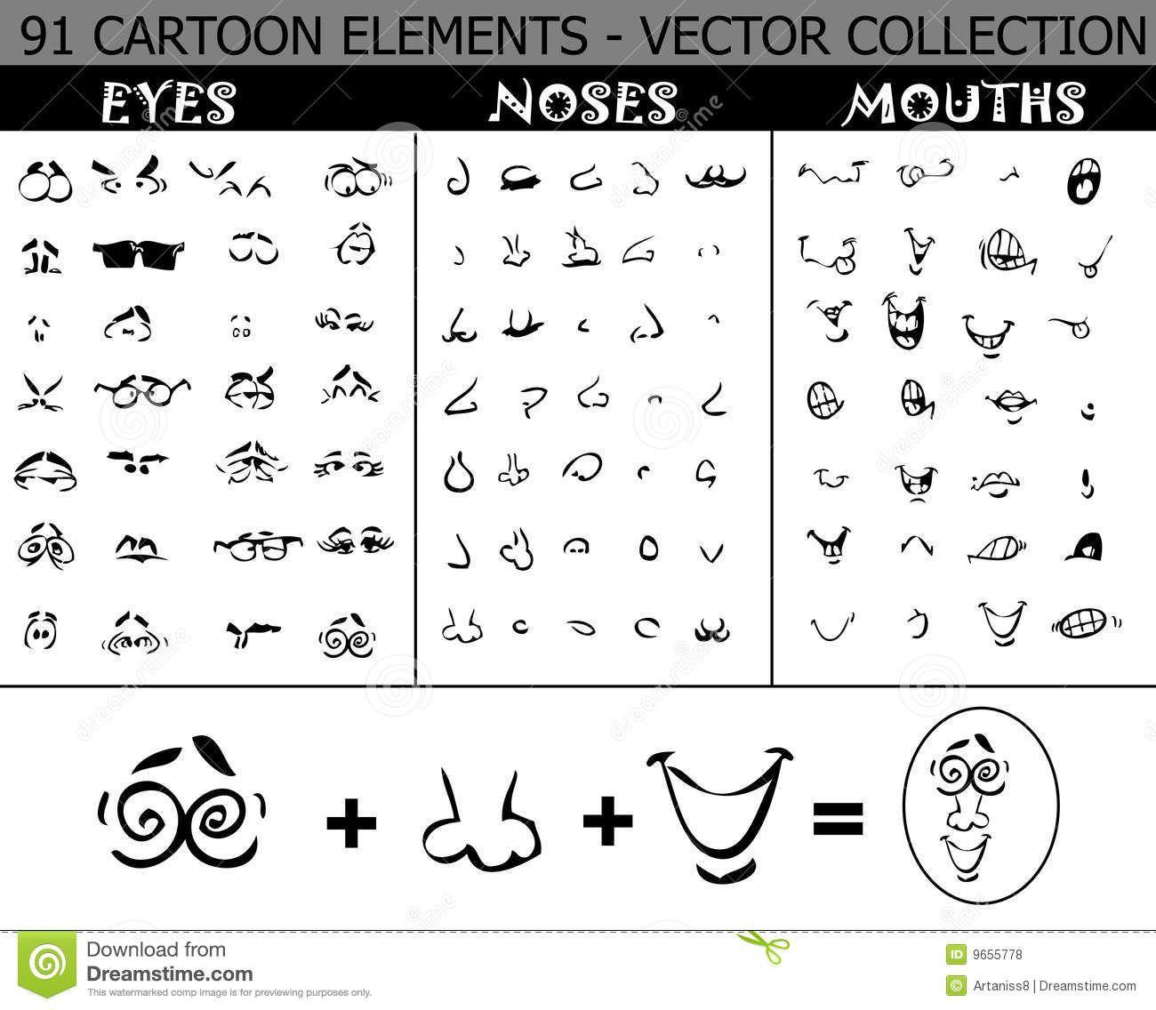 ojos narices y bocas CARTOONS - Buscar con Google