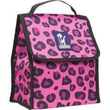 Kids Lunch Box & Bags: Pink Leopard Munch 'n Lunch Bag