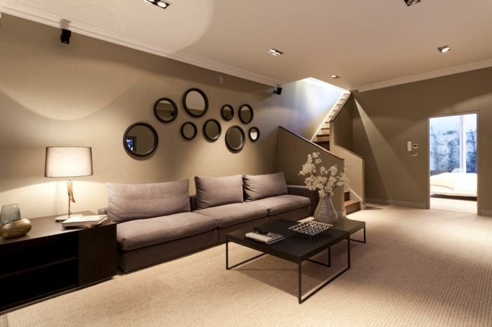 Wohnzimmer Braun   60 Möglichkeiten, Wie Sie Ein Braunes Wohnzimmer  Gestalten