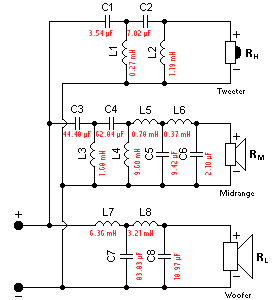 Crossover Calculator Good Calculators Electronic Circuit Design Electronic Schematics Circuit Diagram