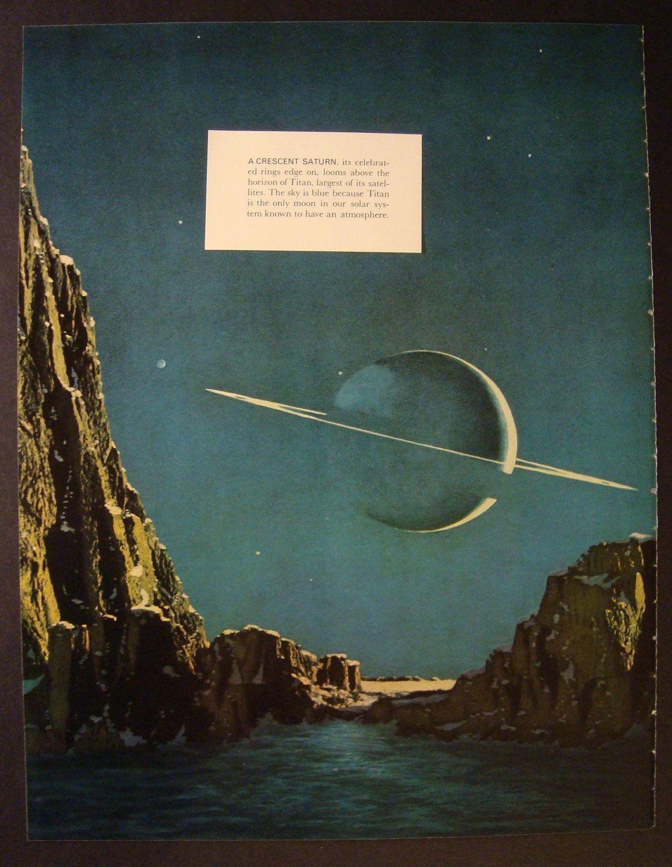 Saturn Vintage Outer Space Original Print Number 756 16