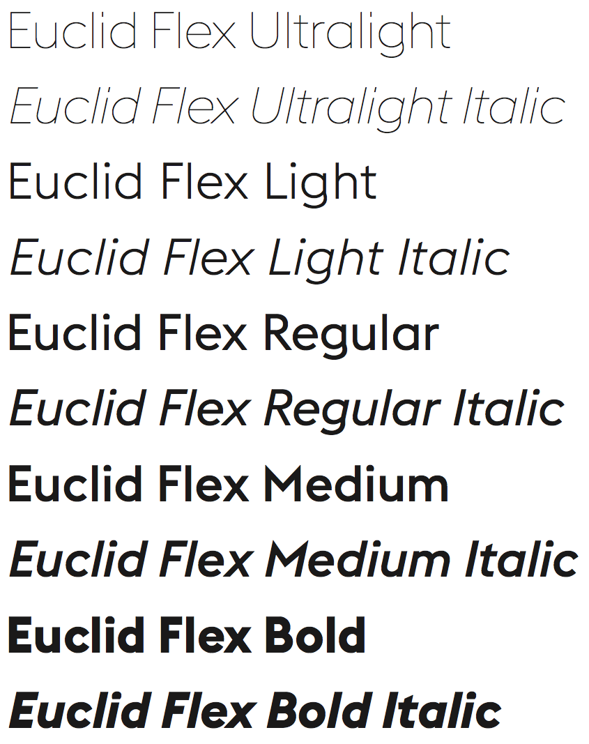 euclid flex font - Google Search | Typography | Typography fonts