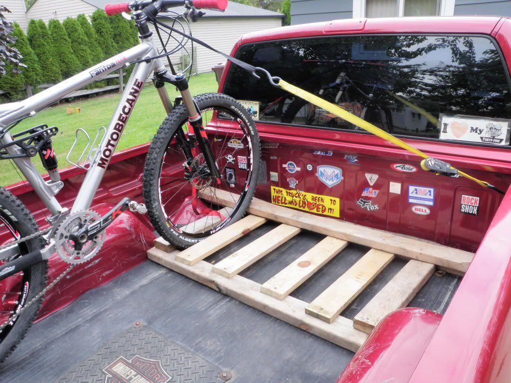 diy truck bed bike rack wood