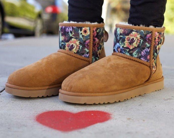 Krystal Simpson X Ugg Classic Mini Floral Grunge Via