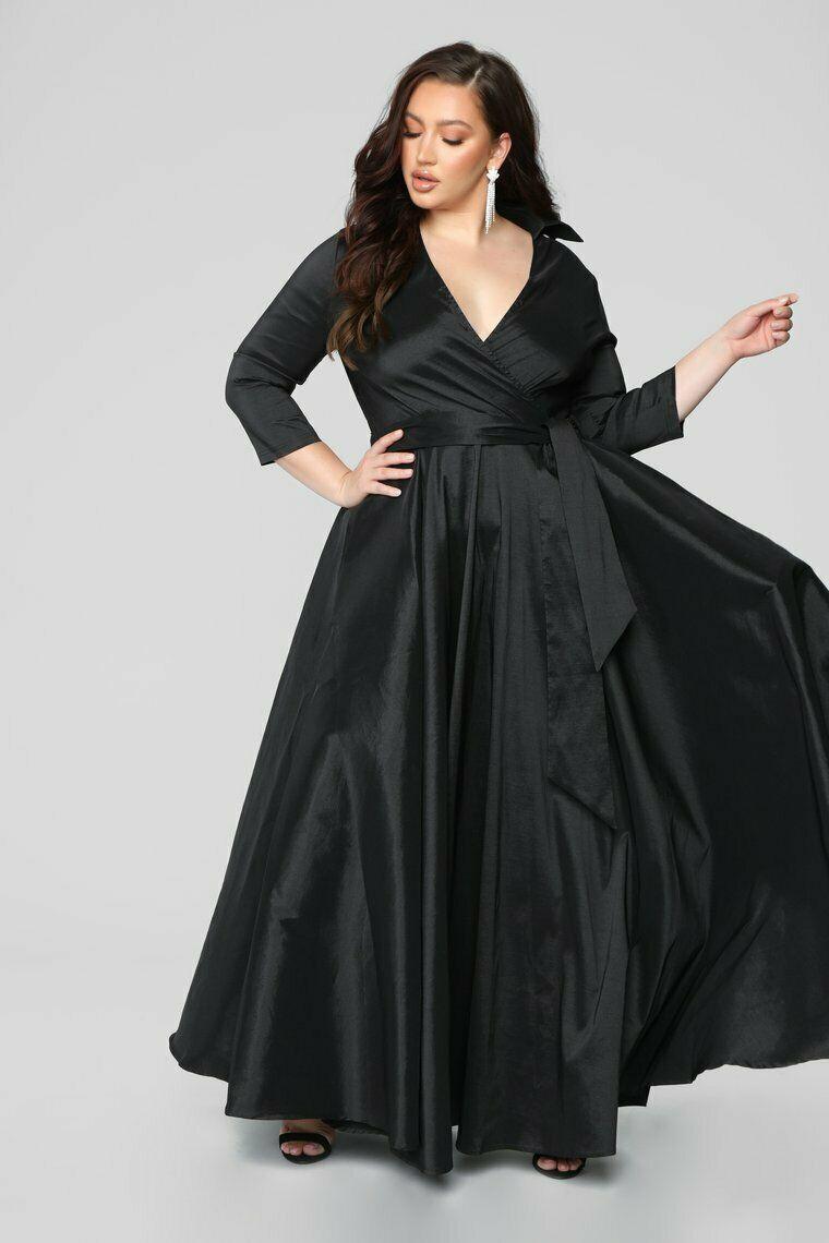 Fashion nova black maxi dress size 4x plus size black
