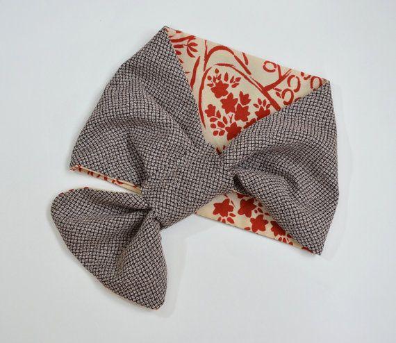 Kimono fabric Reversible Scarf http://www.facebook.com/KIMOKAME
